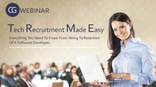 Webinar for Tech Recruitment made easy