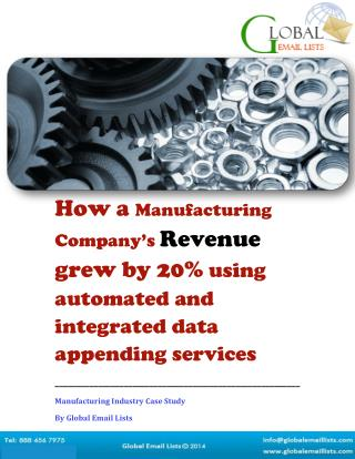 Data Appending Services - Case Study