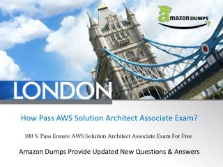 How Get Free AWS Solution Architect Associate PDF Dumps