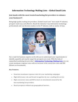 Information Technology Mailing Lists – Global Email Lists