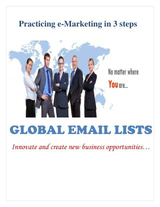 Global Email Lists - White Paper
