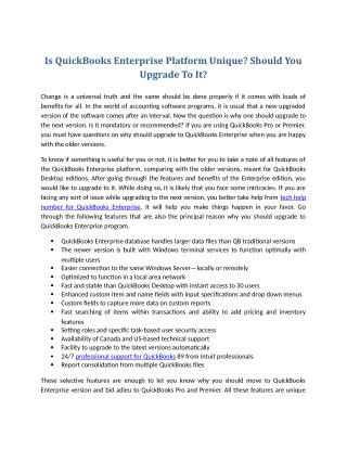 Is QuickBooks Enterprise Platform Unique? Should You Upgrade To It?