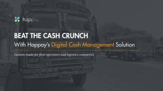 Digital Cash Management for Fleet Operators