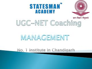 Join Statesman Academy For UGC NET Management Coaching in Chandigarh