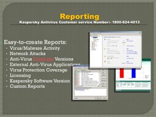Kaspersky Antivirus 1800-824-4013 Helpline Number