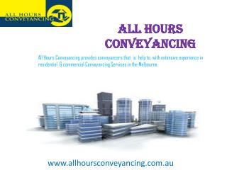 All Property Conveyancing- Property Conveyancing Services in Melbourne
