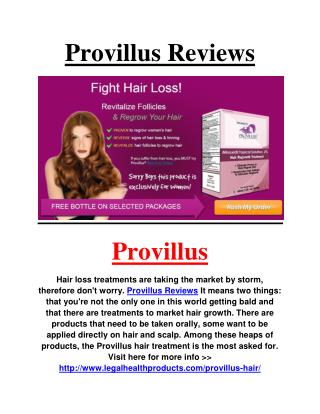 http://www.legalhealthproducts.com/provillus-hair/