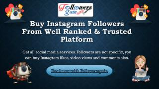Buy Instagram followers from followersgain for 2.50$
