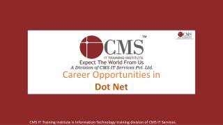 Career Opportunities in Dot Net