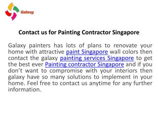 Contact Us for Waterproofing Services in Singapore