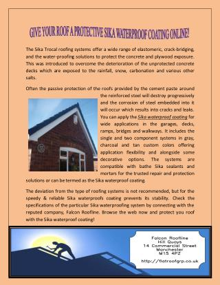 Protective Sika Waterproof Coating Online
