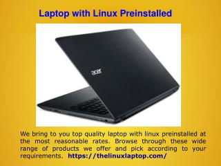 Linux Laptop Sale