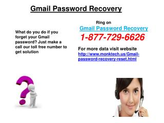 Gmail Recovery Password @1-877-729-6626 – Alternative To Resolution