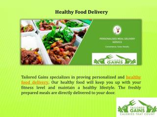 Best Healthy Food Delivery Service