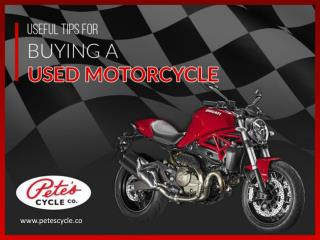 Useful Tips to Buy Used Motorcycles