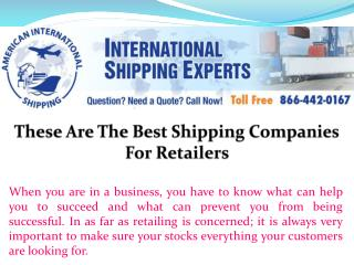 These Are The Best Shipping Companies For Retailers