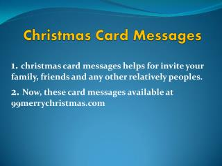 Christmas Cishes Messages