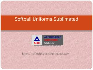 Softball Sublimated Uniforms