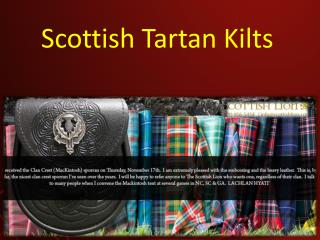 Scottish Tartan Kilts