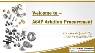 ASAP Aviation Procurement – NSN Components & Aviation Parts Distributor
