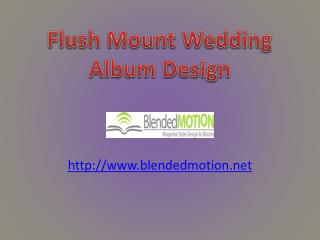 Flush Mount Wedding Album