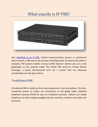 What exactly is IP PBX?
