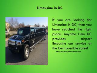 Limousine in DC
