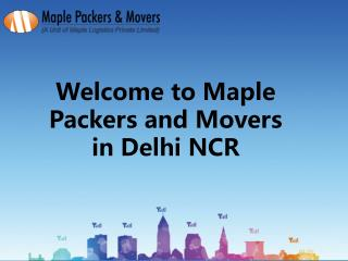 Packers and Movers Delhi NCR - Maple Packers and Movers in Delhi NCR