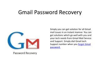 Do you forgot Gmail password get customer support