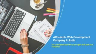 Why Should You Go For An Affordable Web Development Company In India?