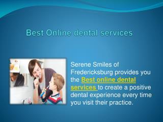 Online Best dental services