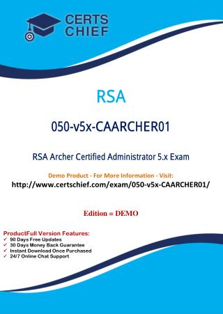 050-v5x-CAARCHER01 Certified Professional Dumps