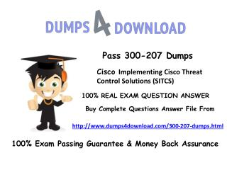 [November-2016 Dumps] Latest 300-207 PDF - Dumps4Download