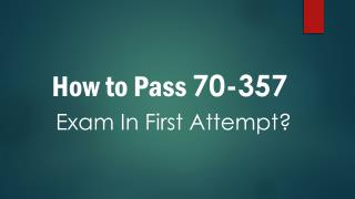 70-357 Practice Test Questions Dumps