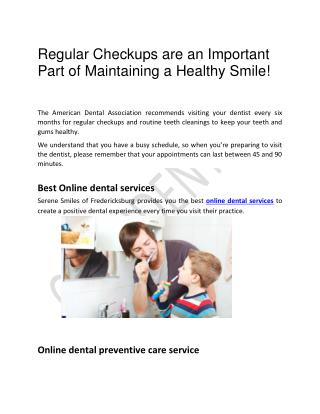 Best Online dental services