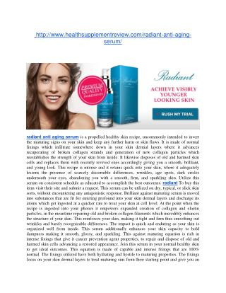 http://www.healthsupplementreview.com/radiant-anti-aging-serum/