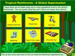 Tropical Rainforests - A Global Supermarket