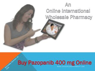 Buy Pazopanib 400 mg tablets