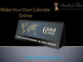 Sands of Time- Make Your Own Design Calendar Online