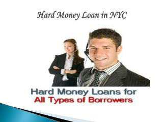Hard Money Loans in NYC