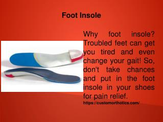 Foot Insole