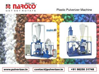 Plastic Pulverizer Machinery Manufacturer, Supplier   in Ahmedabad