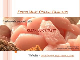Order And Enjoy Fresh Meat Online Gurgaon
