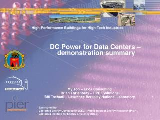 DC Power for Data Centers