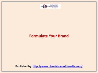 Formulate Your Brand