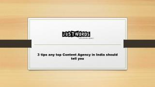 3 tips any top Content Agency in India should tell you