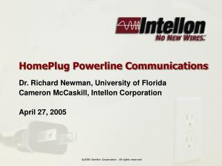 HomePlug Powerline Communications
