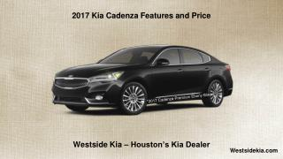 2017 Kia Cadenza Features and Price