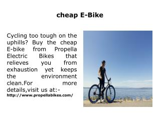 cheap E-Bike