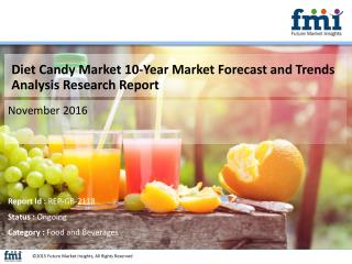 Diet Candy Market Growth, Trends, Absolute Opportunity and Value Chain 2016-2026